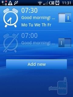 Alarms - Sony Ericsson Xperia X10 mini Review