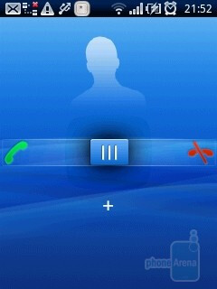 Incoming call - Sony Ericsson Xperia X10 mini Review