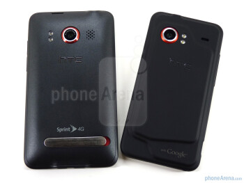 EVO 4G - left, DROID Incredible - right - HTC EVO 4G and HTC DROID Incredible: side by side