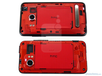 EVO 4G - above, DROID Incredible - below - HTC EVO 4G and HTC DROID Incredible: side by side
