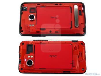 EVO 4G - above, DROID Incredible - below - HTC EVO 4G and HTC DROID Incredible: side by side