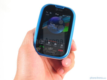 The Pantech Pursuit P9020 is predominantly constructed out of blue plastic that's akin for  the younger generation - Pantech Pursuit P9020 Review