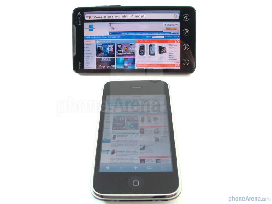 Both handsets utilize interesting designs that substantially catapult them ahead of others - Apple iPhone 3GS and HTC EVO 4G: side by side