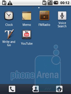 The Samsung Galaxy 5 I5500's interface - Samsung Galaxy 5 I5500 Preview