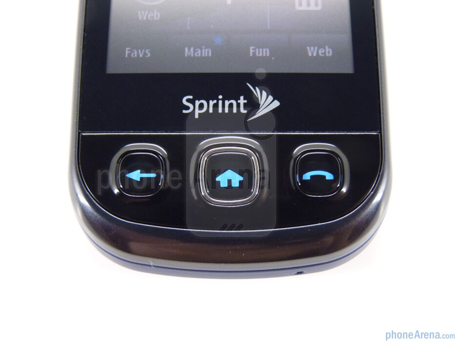 The front of the device features three buttons - The sides of the Samsung Seek M350 - Samsung Seek M350 Review
