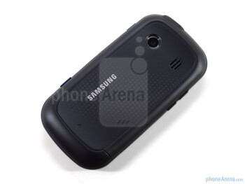 "The Samsung Seek M350 is a rather small phone with a 2.6"" QVGA resistive touchscreen - Samsung Seek M350 Review"