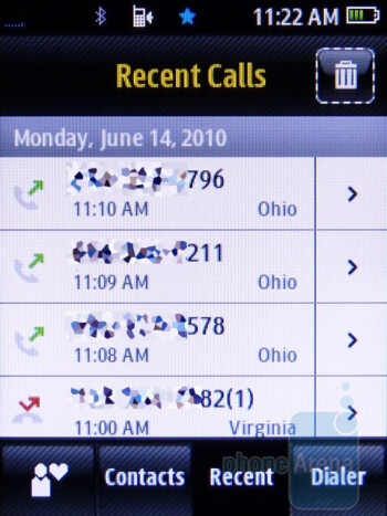 Phonebook - Samsung Seek M350 Review