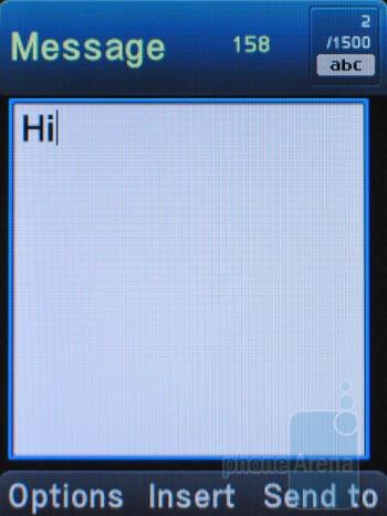 Text messaginng - Pantech Breeze II P2000 Review