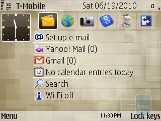 Work mode clutters the home screen with email links - Personal modeSwitching between modes - Nokia E73 Mode Review