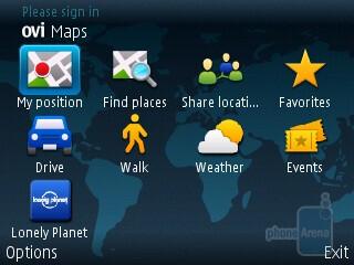 Ovi Maps - Preloaded applications on the Nokia E73 Mode - Nokia E73 Mode Review