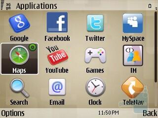 Preloaded applications on the Nokia E73 Mode - Nokia E73 Mode Review