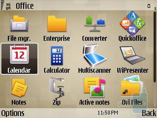 Office functions - Preloaded applications on the Nokia E73 Mode - Nokia E73 Mode Review