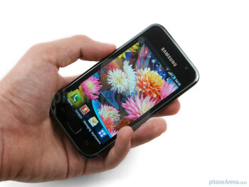 The Samsung Galaxy S is a typical rectangular representative of the big touchscreen phone designs these days - Samsung GALAXY S I9000 Review