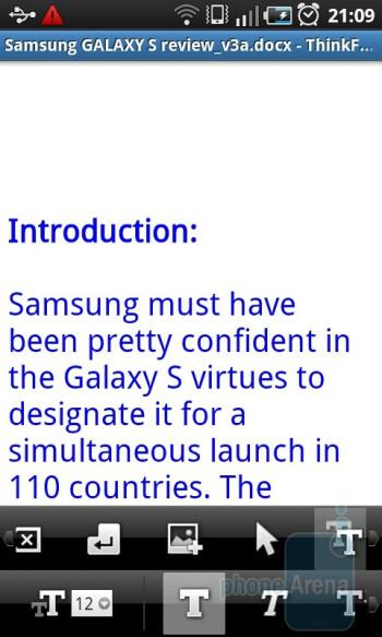 ThinkFree - Samsung GALAXY S I9000 Review