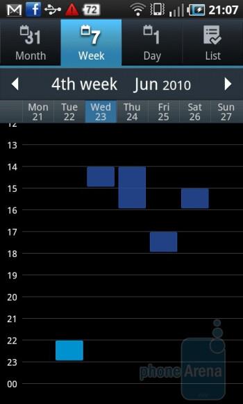 Calendar - Samsung GALAXY S I9000 Review