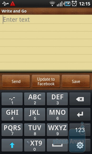 The on-screen keyboard of the Samsung GALAXY S - Samsung GALAXY S I9000 Review