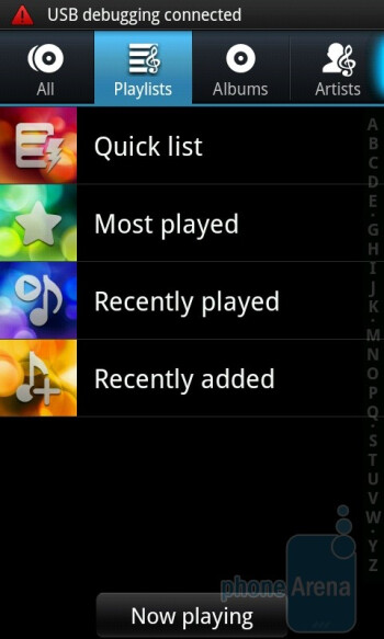 The music player is pretty darn good - Samsung GALAXY S I9000 Review