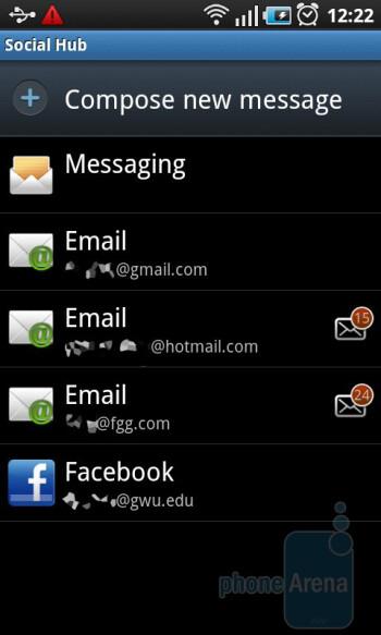 Social Hub - Samsung GALAXY S I9000 Review