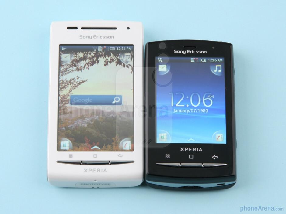 Sony Ericsson Xperia X8 next to the X10 mini pro - Sony Ericsson Xperia X8 Preview
