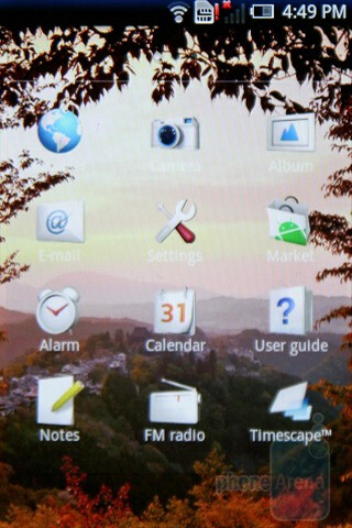 Main menu - The Sony Ericsson Xperia X8 has a neatly personalized software - Sony Ericsson Xperia X8 Preview