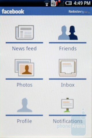 Facebook app on the Xperia X8 - Sony Ericsson Xperia X8 Preview