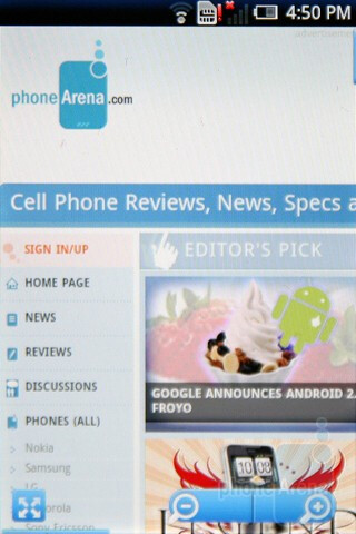 Android browser - Sony Ericsson Xperia X8 Preview