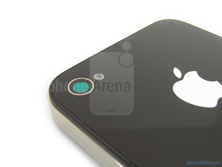 The 5-megapixel cameraon the back - The sides of the Apple iPhone 4 - Apple iPhone 4 Review