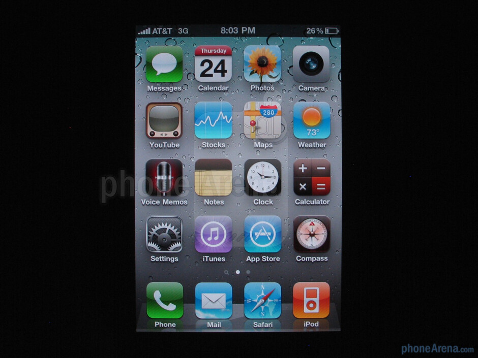 Apple iPhone 4 - Text on the iPhone 4 was much smoother and didn't look fuzzy like on the 3GS - Apple iPhone 4 Review