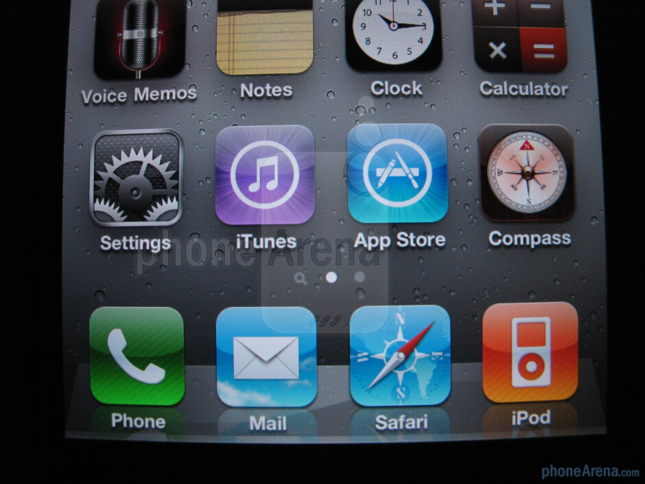 Text on the iPhone 4 was much smoother and didn't look fuzzy like on the 3GS - Apple iPhone 4 Review