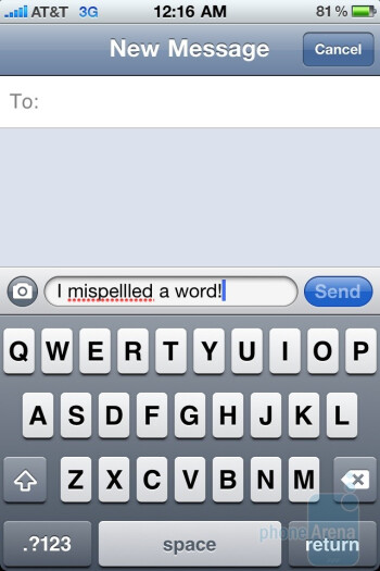 The Apple iPhone 4 makes the task of whipping out a text message effortless - HTC Surround vs Apple iPhone 4