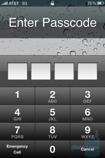 The interface of the Apple iPhone 4 - Nokia E7 vs LG Optimus 2X vs Apple iPhone 4