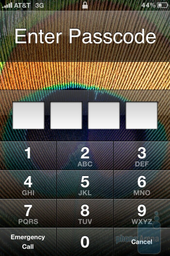The interface of the Apple iPhone 4 - Apple iPhone 4 vs. HTC Droid Incredible