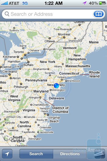 Apple iPhone 4 - Google Maps - Apple iPhone 4 vs. HTC Droid Incredible