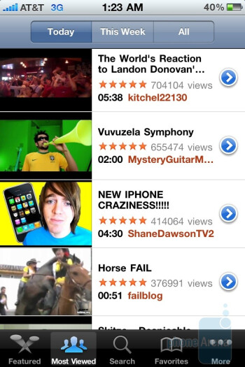 Apple iPhone 4 - YouTube - Apple iPhone 4 vs. HTC Droid Incredible
