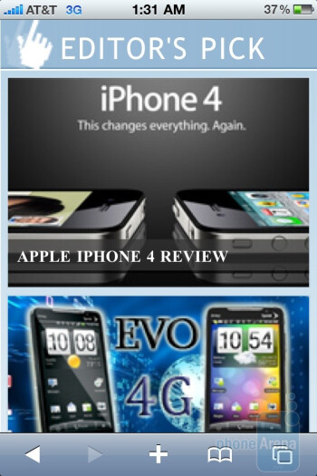 The Apple iPhone 4 with its Safari web browser - Apple iPhone 4 vs. HTC EVO 4G: side by side