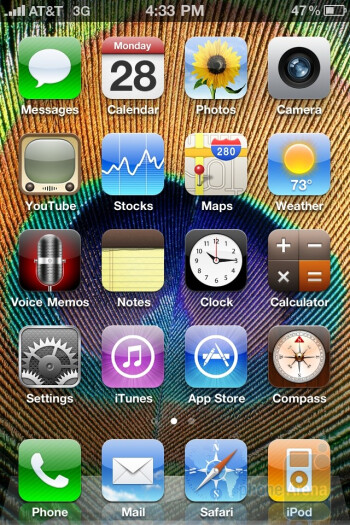 Apple iPhone 4Interface - Apple iPhone 4 vs. iPhone 3GS: side by side