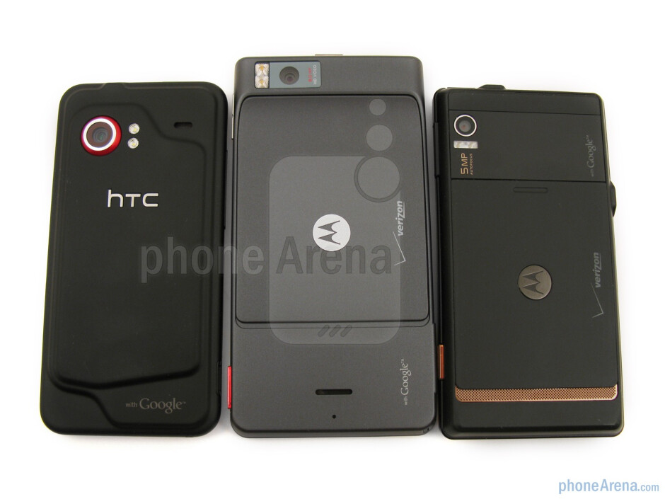 When placing the Motorola DROID X MB810 next to the HTC Droid Incredible and the originalMotorola DROID,you can clearly see the difference in the screen size - Motorola DROID X Review