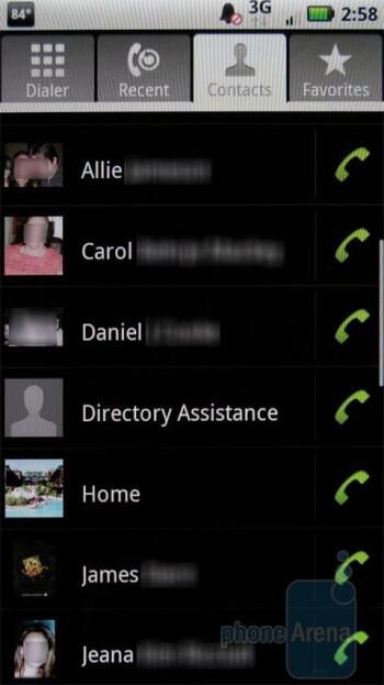 The phonebook of Motorola DROID X MB810 - Motorola DROID X Review