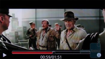 Video playback - Motorola DROID X Review