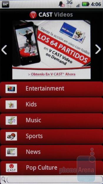 VCast app - Motorola DROID X Review