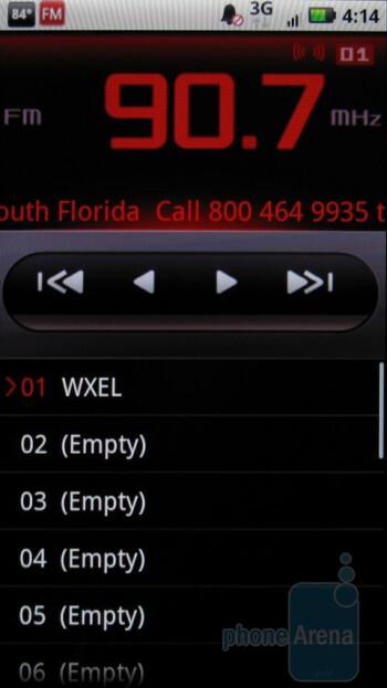 FM Radio - Motorola DROID X Review