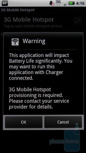 3G Mobile Hotspot app - Motorola DROID X Review