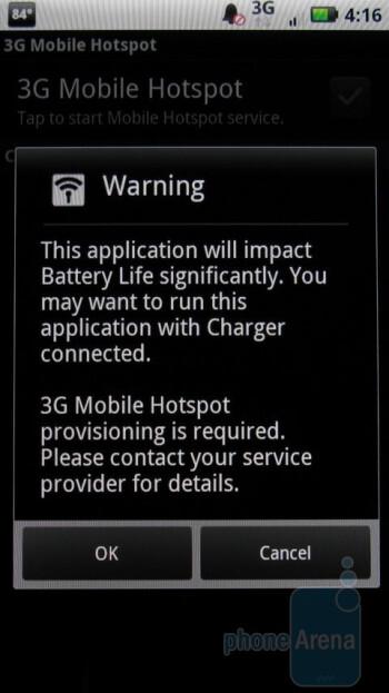 3G Mobile Hotspot app - Motorola DROID X Review