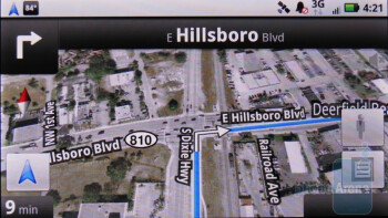 Google Maps - Motorola DROID X Review
