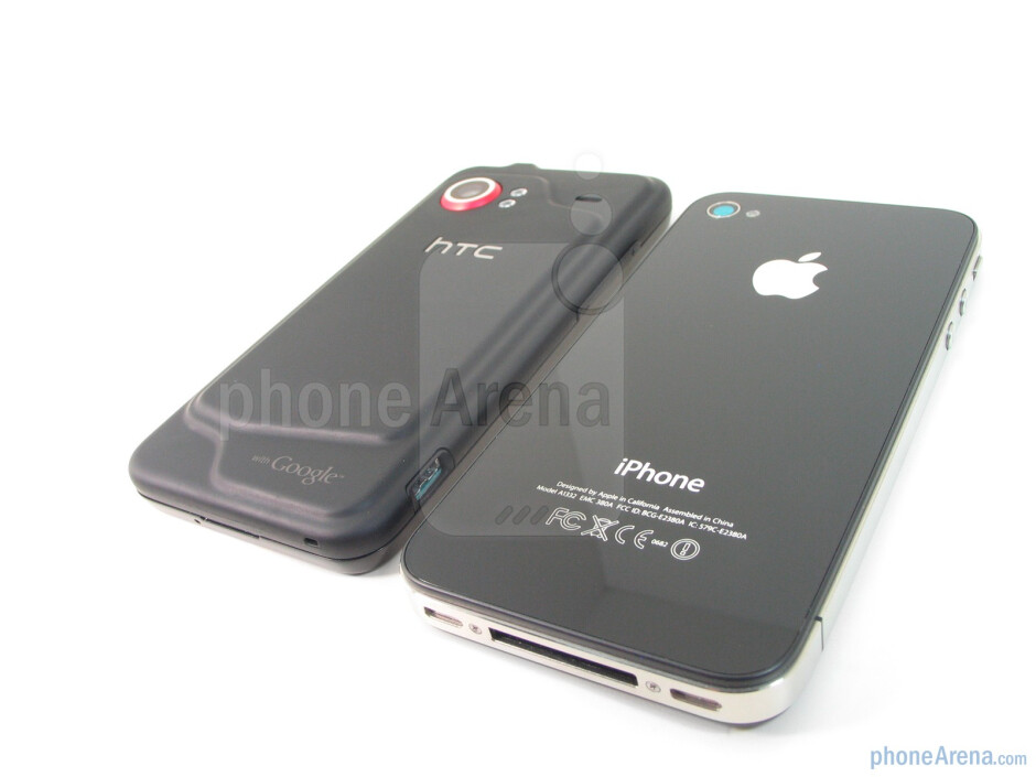 The rear covers of both devices do wellin repelling scratches and dirt - Apple iPhone 4 vs. HTC Droid Incredible