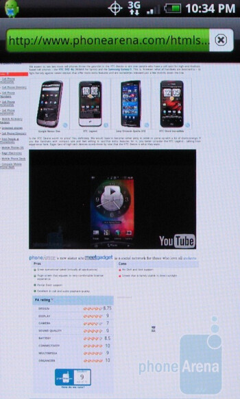 The browser of the HTC Droid Incredible allows for some Flash content to load - Apple iPhone 4 vs. HTC Droid Incredible