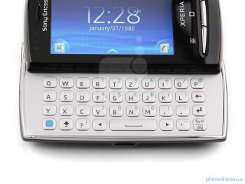 The QWERTY keyboard is tiny, but still it helps tremendouslywith typing on the Sony Ericsson Xperia X10 mini pro - Sony Ericsson Xperia X10 mini pro Review