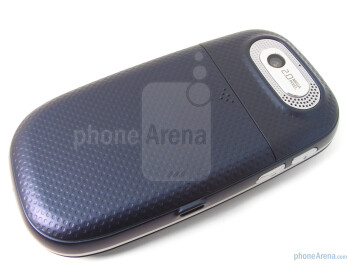 Removing the dot patterned rear cover will give you access to the battery, SIM card slot, and microSD card slot - Pantech Ease Review