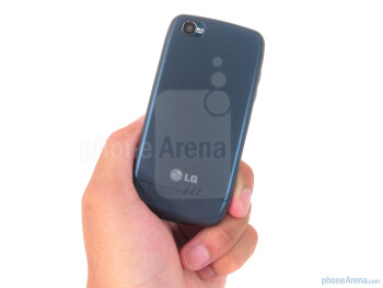The candybar LG Sentio is exquisitely light weight (3.3 oz) and compact thanks to its small footprint and plastic construction - LG Sentio Review