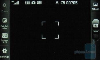 Camera interface - LG Sentio Review